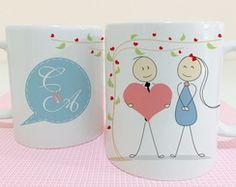 Canecas personalizadas com ilustrações, para dia dos namorados,  amigos secreto, dia dos pais, noivos, padrinhos e outras ocasiões.