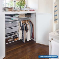 Elfa can be the perfect closet organization solution for spaces big or small! Small Closet Storage, Tiny Closet, Small Closets, Closet Shelves, Closet Design Tool, Bedroom Closet Design, Closet Designs, Master Bedroom, Closet Renovation