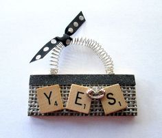 Engagement Scrabble Tile Ornament by ScrabbleTileOrnament on Etsy, $8.00