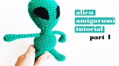 "Lately I've been obsessed with ""The X-Files"" so I was inspired to make a crochet tutorial for this green amigurumi alien! Are there any fans out here? Patter..."