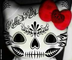 Definitely considering this for my next tat! Hello kitty & sugar skull, what more could a girl ask for? Hello Kitty Art, Hello Kitty Tattoos, Hello Kitty Images, Sugar Skull Art, Sugar Skulls, Mandala, Car Bumper Stickers, Hello Kitty Wallpaper, Hot Tattoos