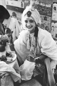 Loulou de la Falaise the day of her marriage with Thadée Klossowski, 1977