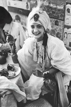Loulou de la Falaise // 1977 // Trending : Turbans // 1969 & 70's Boho Rockstar Street + Stage Style // The Jet Set // Glam Bohemian Mashup // Designer Fashion Ideas + Inspiration
