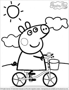 peppa pig coloring pages free online printable coloring pages, sheets for kids. Get the latest free peppa pig coloring pages images, favorite coloring pages to print online by ONLY COLORING PAGES. Peppa Pig Coloring Pages, Cartoon Coloring Pages, Coloring Pages To Print, Colouring Pages, Printable Coloring Pages, Coloring Pages For Kids, Coloring Books, Free Coloring, Coloring Sheets