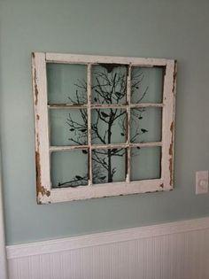 Bekijk de foto van annelies51 met als titel een oud raam met een print erachter en andere inspirerende plaatjes op Welke.nl.