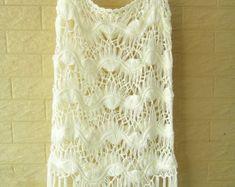 Crochet Granny Square Dress Long Sleeves by TinaCrochet2016
