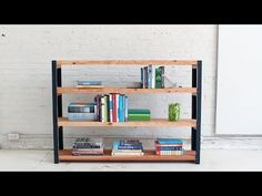 How to make an Ironbound DIY Bookcase out of angle irons and 2x10s