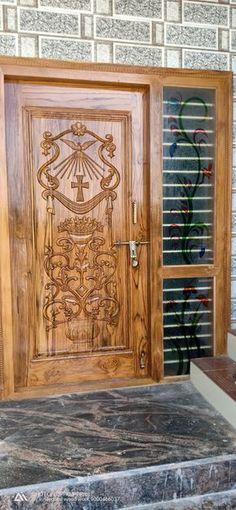 Wooden Front Door Design, Double Door Design, Wooden Front Doors, Wooden Door Hangers, Room Door Design, Door Design Interior, House Design, Single Main Door Designs, Door Design Images
