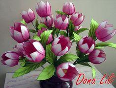 Blog de artesanatodalili :Artesanato Da Dona Lili, Mais Flores em EVA