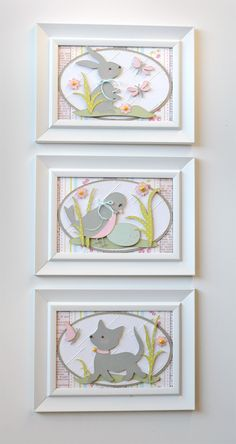 Cricut Kate's ABCs: cat, kitten, robin, rabbit, bunny