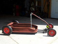 my own early model radio flyer rat  rod wagon