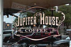 Jupiter House Coffee | Starr Studios #lettering #SignPainters
