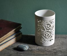 Coral Tea light holder Amy Cooper Ceramics