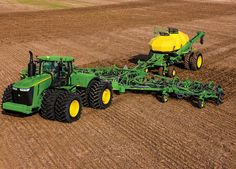 JD John Deere 9570R Tractor with air seeder