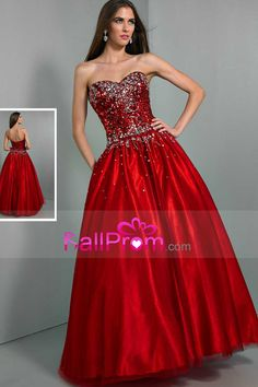 2015 Prom Dresses Ball Gown Floor Length Tulle With Beading New