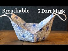 Breathable 5 Dart Face Mask Sewing Tutorial|It doesn't touch mouth and nose - YouTube Fabric Crafts, Sewing Crafts, Sewing Projects, Techniques Couture, Sewing Techniques, Easy Face Masks, Diy Face Mask, Face Diy, Nose Mask
