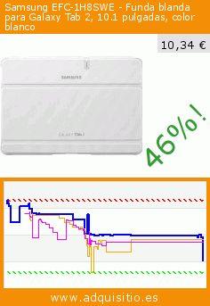 Samsung EFC-1H8SWE - Funda blanda para Galaxy Tab 2, 10.1 pulgadas, color blanco (Accesorio). Baja 46%! Precio actual 10,34 €, el precio anterior fue de 19,06 €. https://www.adquisitio.es/samsung/efc-1h8swe-funda-blanda