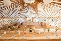Stunning Wedding Yurt @ Fron Farm Yurt Retreat. Unique and unusual wedding venue in West Wales.