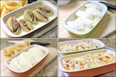 PANELATERAPIA - Blog de Culinária, Gastronomia e Receitas: Conchiglioni Gratinado