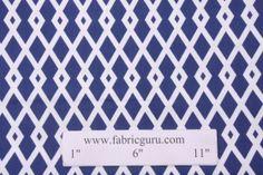 Robert Allen Graphic Fret Drapery Fabric in Ultramarine