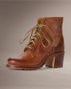 Discover handcrafted leather booties and short boots for women, including classic styles from Frye. Frye Boots, Combat Boots, Bootie Boots, Ankle Boots, Leather Booties, Leather Heels, Women's Lace Up Boots, High Boots, Over The Knee Boot Outfit