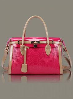 Crocodile Candy Colors Shoulder Bags