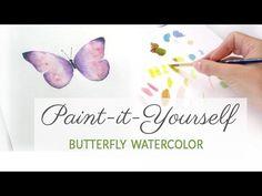 Easy Watercolor Butterfly - YouTube