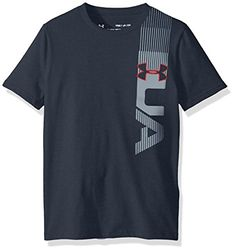 Under Armour Boys' One Sided T-Shirt, Stealth Gray/Red, Y... Casual T Shirts, Tee Shirts, T Shart, Under Armour Outfits, Tracksuit Tops, Superdry Mens, Tee Shirt Designs, Athletic Outfits, Streetwear Brands