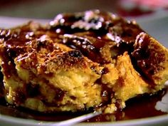 Get Panettone Bread Pudding with Cinnamon Syrup Recipe from Food Network