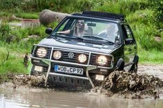 MK2 Golf Country offroad in the mud