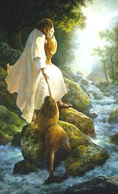 He is there when I am afraid, stumble, or fall.  :)  Be Not Afraid by Greg Olsen