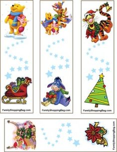 Pooh Christmas Bookmarks Bookmarks