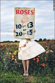 Tim Walker. Roses for sale.
