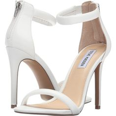 Steve Madden Fancier (White) High Heels (385 SEK) ❤ liked on Polyvore featuring shoes, white, open toe high heel shoes, white shoes, white high heel shoes, steve-madden shoes and open toe shoes