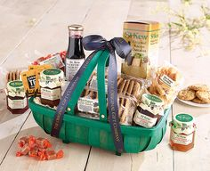 St Kew Trug Hamper Full Of Tasty Treats