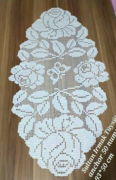 Crochet Patterns Filet, Crochet Designs, Crochet Stitches, Knitting Patterns, Crochet Books, Diy Crochet, Crochet Placemats, Fillet Crochet, Embroidery Motifs