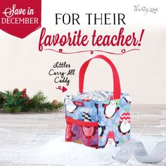 A Littles Carry-All Caddy is perfect for a teacher! Just $5 w/ every $35 purchase this month!