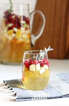 Holiday Sangria Recipe - great for New Years Eve!