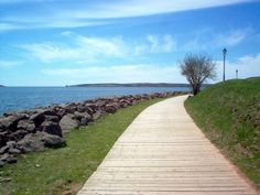 The Boardwalk in Charlottetown - this is a gorgeous walk, if you visit, it's a must! Prince Edward Island, Outdoor Cafe, Small Island, Travel Bugs, East Coast, Places To See, Scenery, To Go, Canada