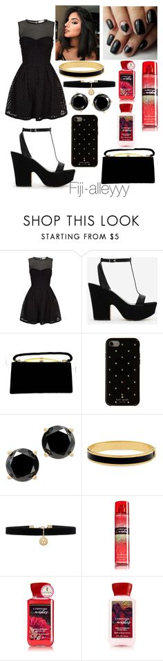 """""""🖤"""" by fiji-alleyyy ❤ liked on Polyvore featuring RED Valentino, CHARLES & KEITH, Kate Spade, Halcyon Days and Accessorize"""