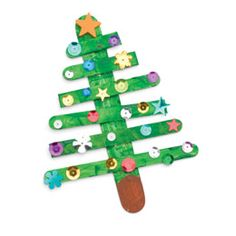 This preschooler-friendly project is made with humble, familiar craft sticks. Help your child make the basic tree shape, then let her decorate it however she likes.