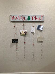 Merry Mail with Christmas Tree Holiday Decor Christmas Christmas Card Display, Christmas Card Holders, Christmas Signs Wood, Christmas Greeting Cards, Christmas Art, Christmas Holidays, Holiday Crafts, Holiday Fun, Holiday Decor