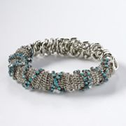 Simply Vera Vera Wang Two Tone Simulated Crystal Stretch Bracelet