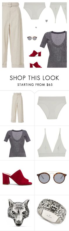 """Untitled #5265"" by amberelb ❤ liked on Polyvore featuring Isa Arfen, Base Range, Missoni, Maryam Nassir Zadeh, Ray-Ban and Gucci"