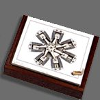 MechaniCards by Brad Litwin - Kinetic Works Too bad they aren't less expensive. Greek Artifacts, Radial Engine, Kinetic Art, Ancient Greek, Timeless Design, Modern Design, 3 D, Greeting Cards, Gift Cards