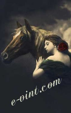 Vintage Romantic Women with Horses Image Download Contents