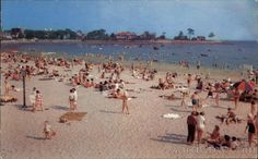 Fisherman's Beach Swampscott, MA where I spent every day of the summer near the boat house next to lobster traps and fishing boats.  Times change and I can't find a picture showing those things.