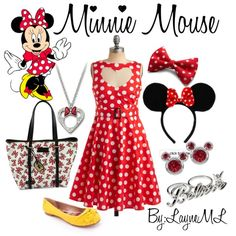 Minnie Mouse ♥, created by layneml.polyvore.com