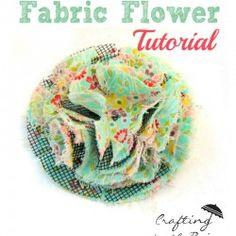 Fluffy fabric flower tutorial