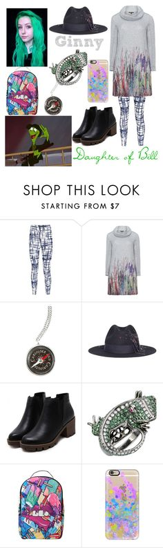 """""""descendants oc - Bill the Lizard"""" by theclocker ❤ liked on Polyvore featuring Boohoo, Twister, Sensi Studio, Sprayground, Casetify and plus size dresses"""